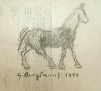 Quadro di  Guido Borgianni - Cavallo lÁpiz papel