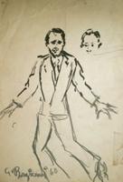Quadro di  Guido Borgianni - Uomo con cravatta mixta papel