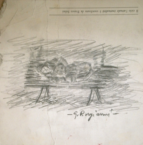 Guido Borgianni - Uomo  sdraiato su panchina