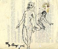 Quadro di  Guido Borgianni - Nudo marcador papel