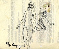 Quadro di  Guido Borgianni - Nudo marqueur papier