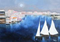 Work of Lido Bettarini  Vele di notte