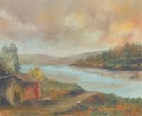 Quadro di Alviero Tatini  Baracca vicino all Arno
