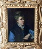 Quadro di   Antiquariato - La Donna in blu huile toile