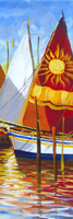 Работы  Giuseppe Ruberto - Barche in porto oil холст