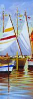 Quadro di  Giuseppe Ruberto - Barche in porto Óleos tela