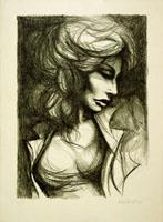 Quadro di Fausto Maria Liberatore  Figura di donna