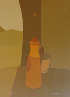 Работы  Alviero Tatini - Respirando colazione facendo oil холст