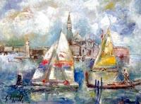 Quadro di  Emanuele Cappello - Venezia Óleos tela
