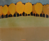 Работы  Alviero Tatini - Campitura con alberi oil стол