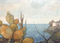 Работы  Alviero Tatini - Marina oil холст