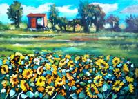Work of Luigi Pignataro  Campo di girasoli