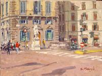 Quadro di  Graziano Marsili - Piazza Goldoni huile toile