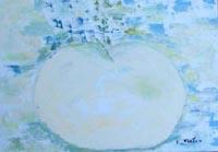 Work of Liù Venturi - la grande mela oil canvas