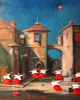Quadro di  Norberto Martini - Scherzi notturni huile toile