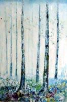 Work of Liù Venturi - bosco in fiore oil canvas