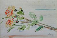 Quadro di Sergio Scatizzi - Fiori acquerello tavola
