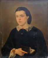 Quadro di   Antiquariato - Ritratto di donna huile toile