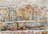Work of Emanuele Cappello - Burano, Case oil canvas