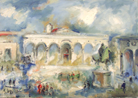 Work of Emanuele Cappello - Piazza S.S.Annunziata oil canvas