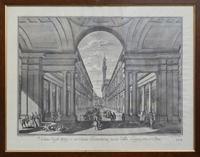 Quadro di   Antiquariato - Veduta degli Ufizi, o sia Curia Fiorentina presa dalla Loggia presso Arno imprimer papier