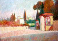 Work of Dino Migliorini - Dintorni di Firenze oil table