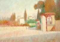 Quadro di Dino Migliorini - Dintorni di Firenze olio tavola