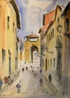 Quadro di Rodolfo Marma  Porta S. Gallo a Firenze