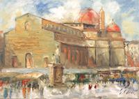 Work of Emanuele Cappello - San Lorenzo oil canvas