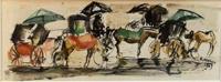 Quadro di Rodolfo Marma  Le carrozzelle