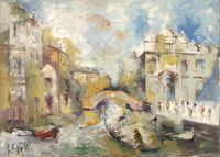 Work of Emanuele Cappello - Canale,Venezia oil canvas