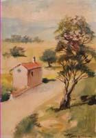 Work of Luigi Pignataro  Strada in campagna