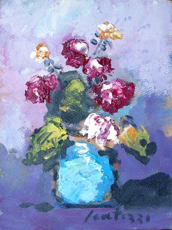 Quadro di sergio scatizzi vaso di fiori for Quadri fiori olio
