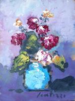 Quadro di Sergio Scatizzi - Vaso di fiori olio tavola