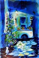 Work of Roberto Barni  Il cortile di sera