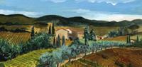 Quadro di  Enrico Gallo - Colline toscane acrÍlico tabla