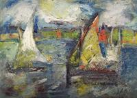 Work of Emanuele Cappello  Marina con vele