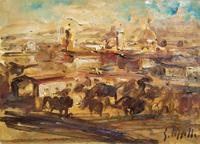 Work of Emanuele Cappello  Veduta di Firenze da Piazzale Michelangiolo