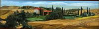 Quadro di  Enrico Gallo - Paesaggio Toscano Siena acrÍlico tabla