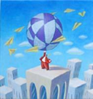Quadro di  Armando Orfeo - Il grande gioco Óleos tela