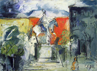 Work of Emanuele Cappello  Statua equestre di Ferdinando I de'Medici,Piazza Santissima Annunzia