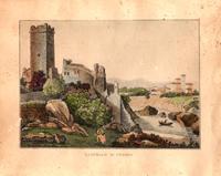 Quadro di   Anonimo 900 - Castello di Trezzo imprimer papier