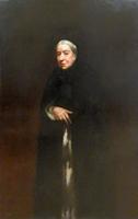 Работы   Antiquariato - Figura di donna ottocentesca oil холст