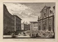 Quadro di  Antiquariato - Veduta della chiesa di S. Michele Bertelde de' P.P.Teatini stampa carta