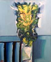 Quadro di Natale Filannino - Vaso con fiori olio tela