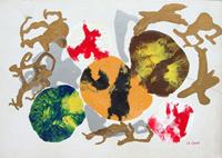 Работы  O. Conti - Composizione oil картон