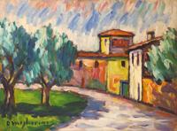 Work of Dino Migliorini  Paesaggio con casolare
