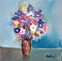 Quadro di Lido Bettarini - Vaso di Fiori olio tela