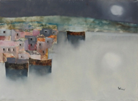 Work of Lido Bettarini  Marina di notte