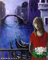 Quadro di Eliano Fantuzzi  Figura a Venezia